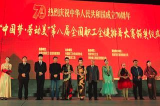 万博app手机下载新万博苹果下载官方网站荣获第八届全国职工全健排舞大赛两项大奖